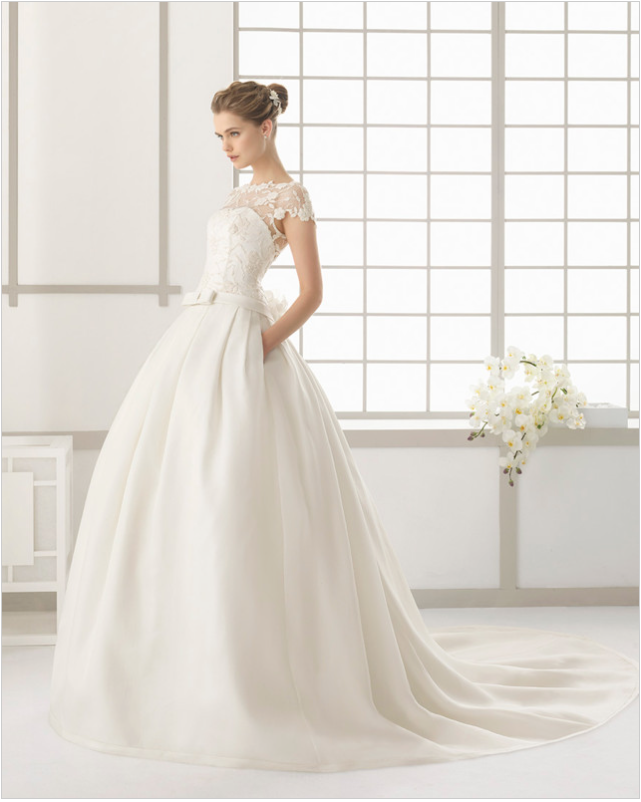 The Oh So Chic Non-Strapless Wedding Gown - ALLIE NYC