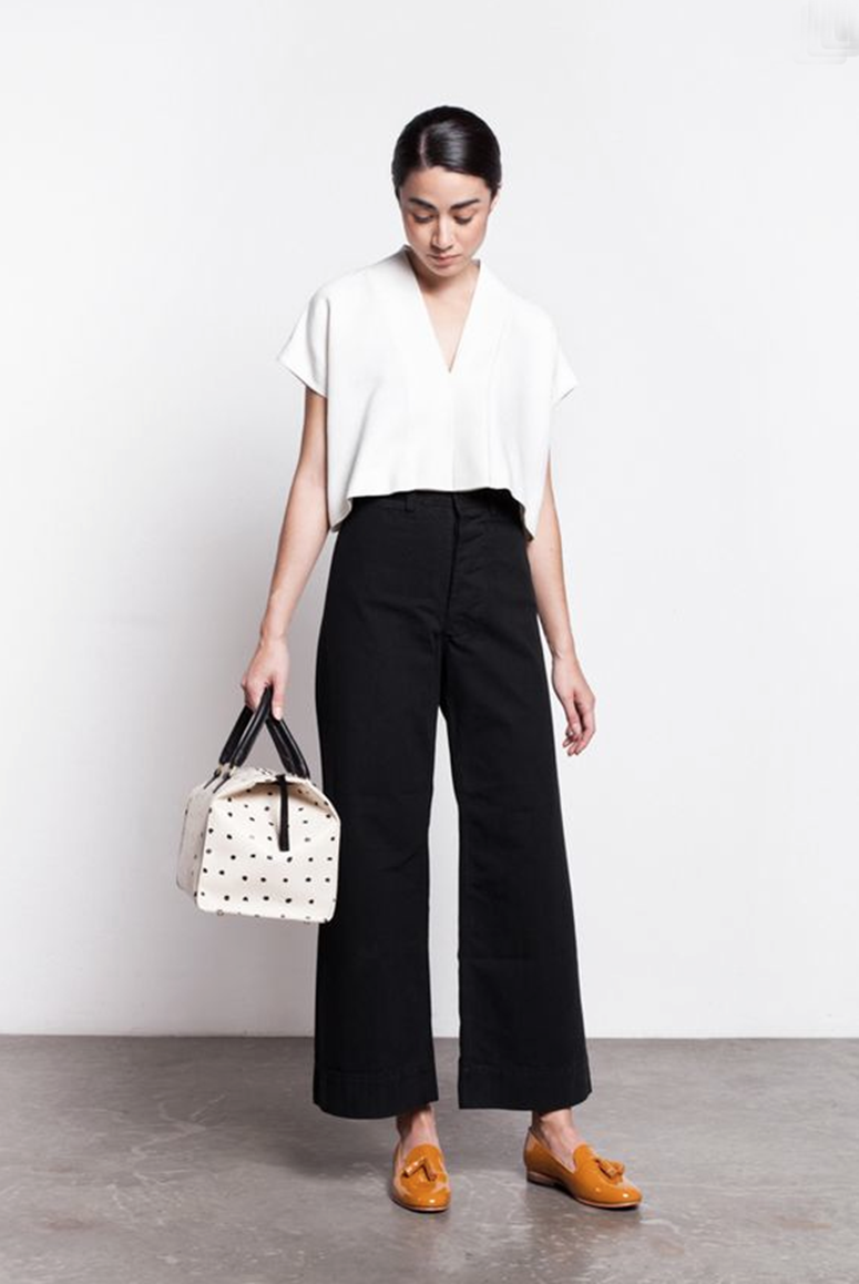 The Wide Leg Pants with Flats Trend—a Super Fashion Forward Trend ...