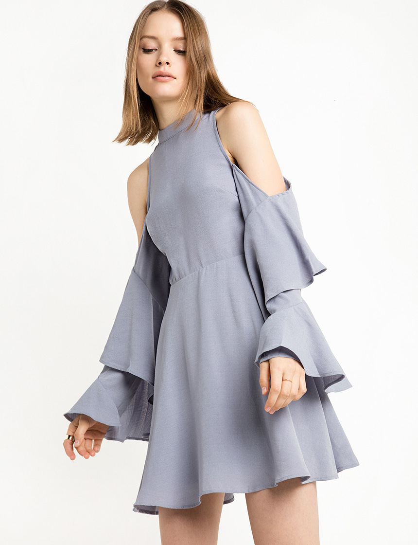 blue-ruffled-cold-shoulder-dress-227206-1
